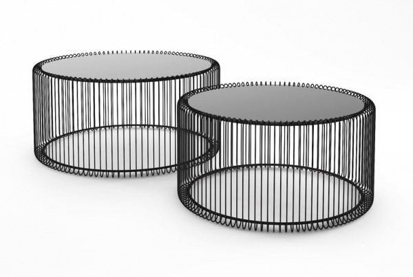 Coffee table wire black (2er/set)
