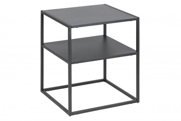 Beistelltisch Metall schwarz mit Zwischenboden
