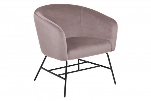 Stuhl samt rosé