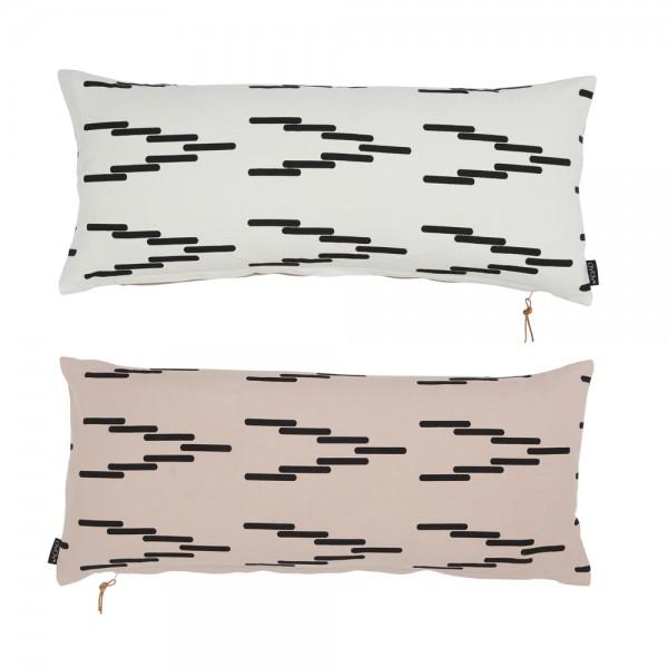 OYOY Cima cushion rose/white