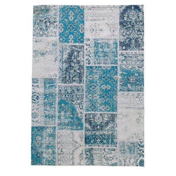 Teppich Patchwork türkis 160x230