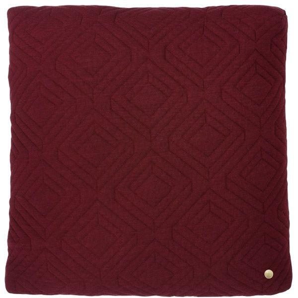 ferm LIVING Quilt Cushion (bordeaux) 45x45