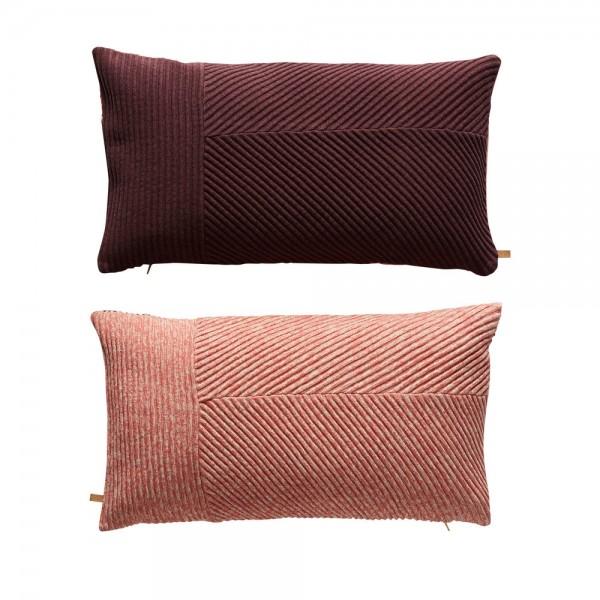 OYOY Ada cushion Aubergine/Coral